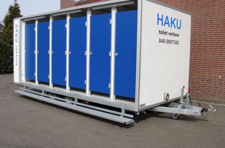 Haku - toilet en douche verhuur