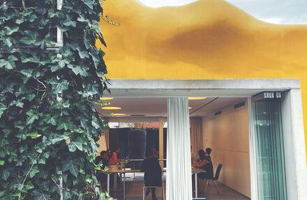 Kunstzinnig en coronaproof buiten vergaderen in de Zebrastraat - Foto 1