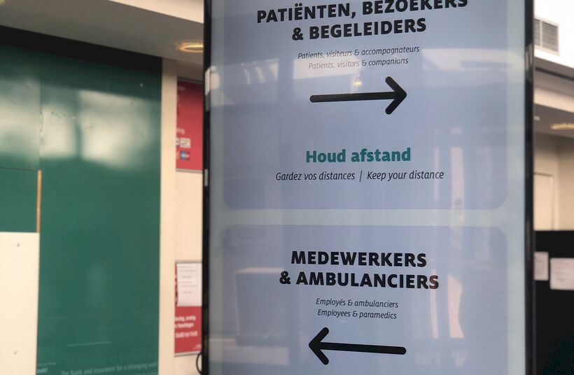 'Digital signage' in het UZA - Foto 1