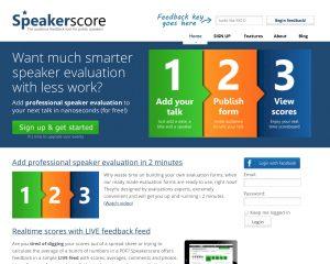 Geef sprekers op je event een score met start-up Speakerscore