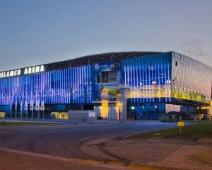 Ghelamco Arena mag geen bewegende beelden uitzenden op LED-gevel