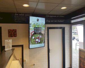 Jouw boodschap op de schermen in de etalages van winkels?