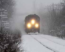 Bedrijfsuitje in gestrande trein
