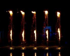 Spetterende huwelijk tussen water en vuur