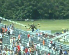 Drone crasht op event