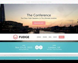 Fudge: een prachtige WordPress theme voor congressen