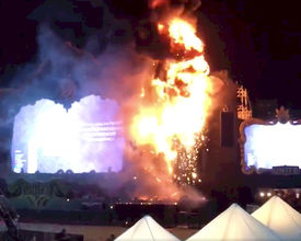 Enorme brand op Spaans festival Tomorrowland Unite: 22.000 mensen geëvacueerd