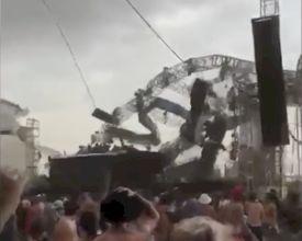 Horror: Truss-constructie stort in, DJ komt om