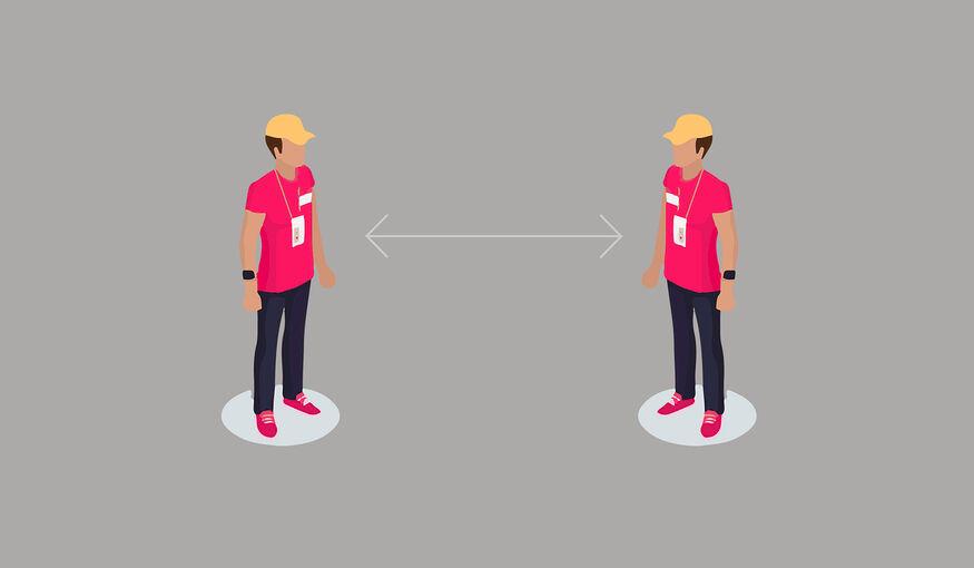 'Social distance badge' helpt afstand houden op events