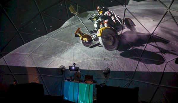 360-graden Dome Projectie die alle zintuigen prikkelt
