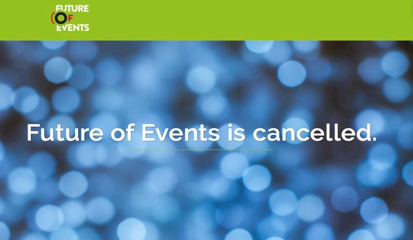 Future of Events geannuleerd, faillissement aangevraagd