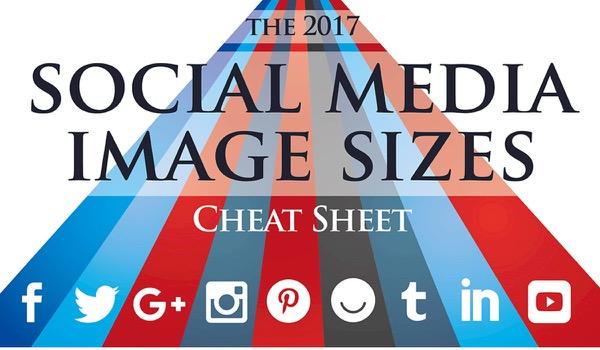 Ultieme overzicht Social Media-afmetingen 2017 - infographic