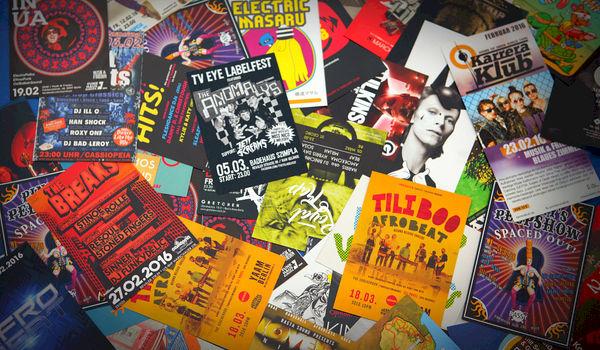 Vergeet geen flyers of posters als je een evenement organiseert
