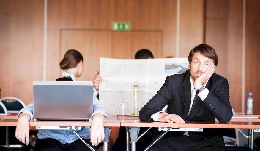 In slaap gevallen tijdens een management off-site?