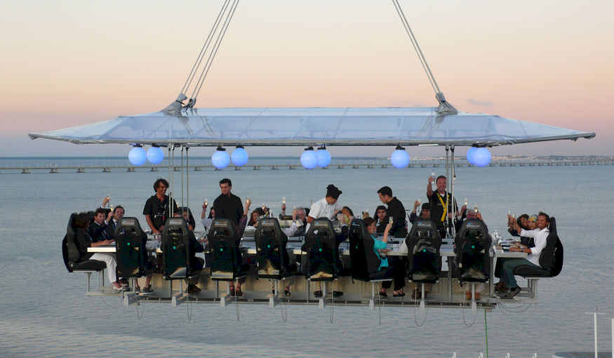 Dinner in the Sky... aan de oever van de Schelde