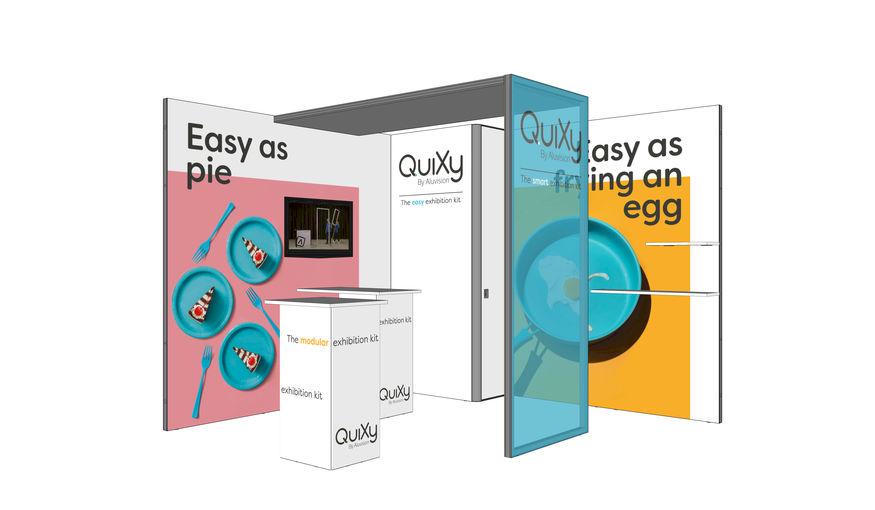 QuiXy, de nieuwe smart exhibition kit van Aluvision
